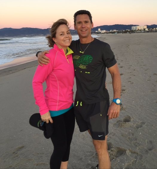 Christmas Day run in Santa Monica
